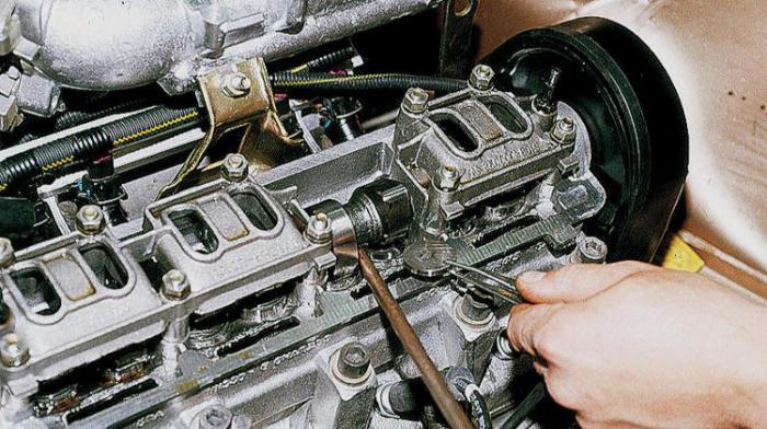 adjusting the valves VAZ 2108
