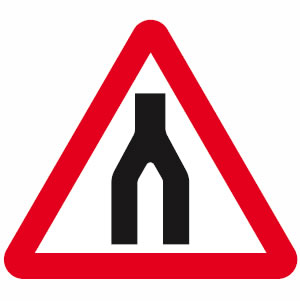 Dual carriageway ends sign