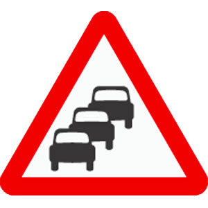 Queues likely road sign